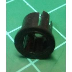 LED Bezel, Holder, 5mm, Black
