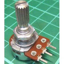 Potentiometer, 100K, Log, THT, 6x13.5mm Knurled Shaft, PCB Pins