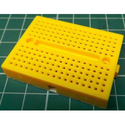 Breadboard, 47x35mm, 170 Hole, yellow