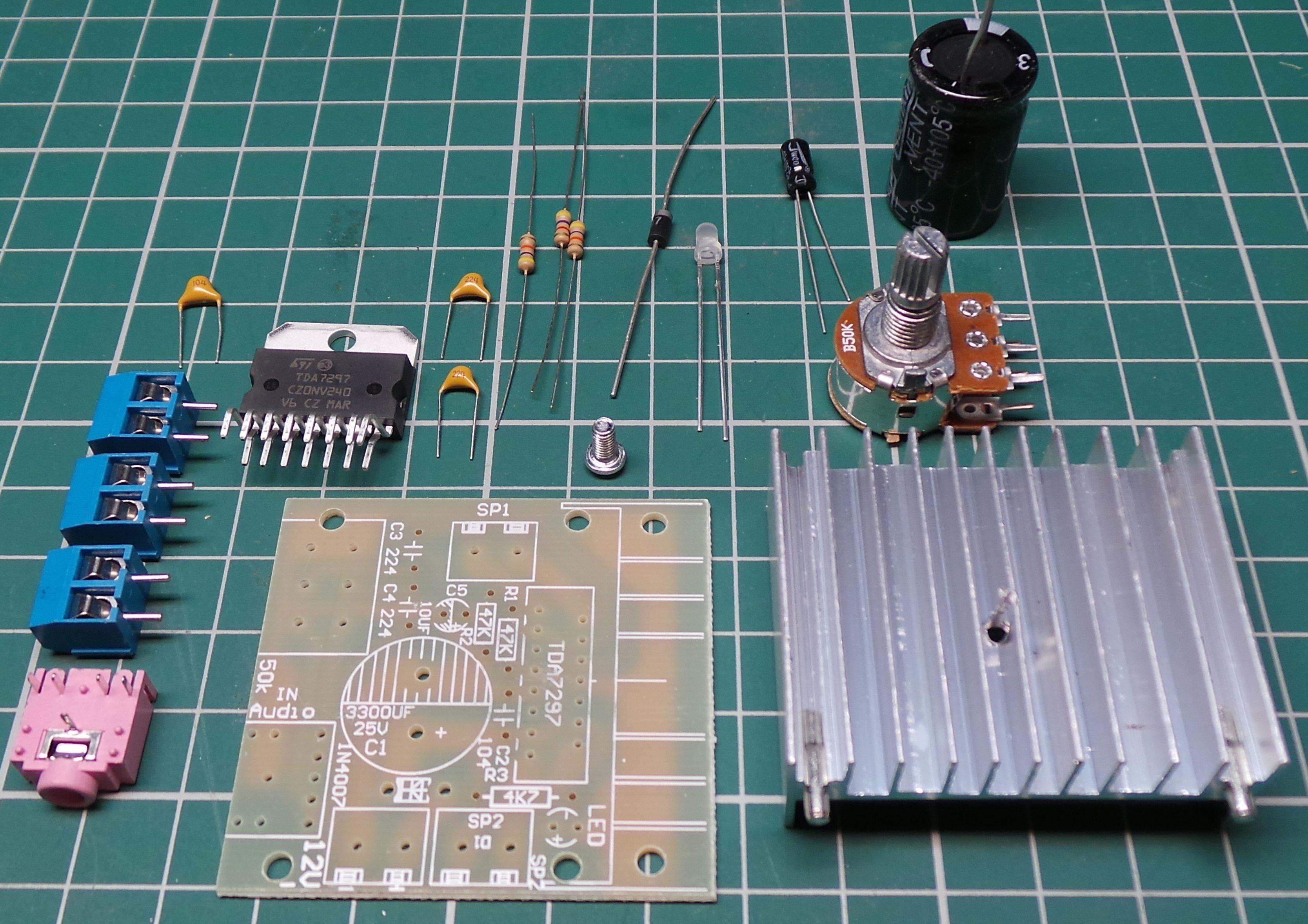 Tda7297 15w Stereo Audio Amplifier Board Kit Dsmcz Details About Ka2284 Integrated Circuit
