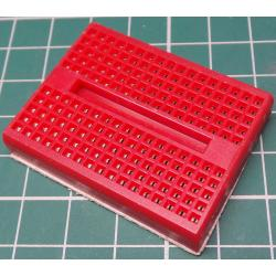 Breadboard, 47x35mm, 170 Hole, Red