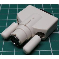 Adaptor, 9 Way D Type Female to 6 Way PS/2 Connector Female