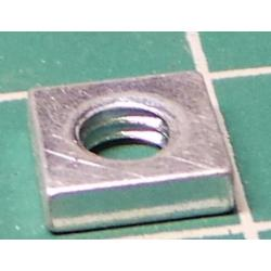 Square Nut, M4, For 7mm Spanner