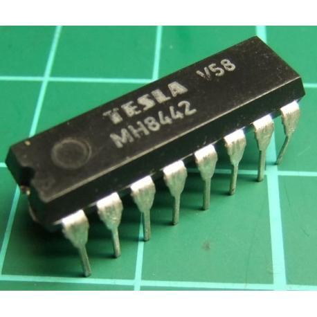 MH8442 (Hi spec 7442), TESLA, BCD to decimal decoder