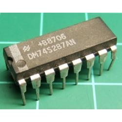 74287, 74S287AN, 1024-bit (256x4) programmable read-only memory with three-state outputs
