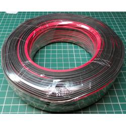 Speaker Wire, Paired, 0.12mm2, 28AWG, PVC, Red/Black