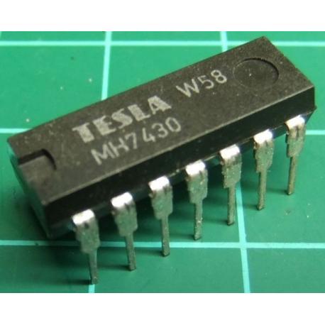MH7430, TESLA, 8-input NAND gate