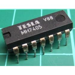 7405, MH7405, TESLA, hex inverter with open collector outputs