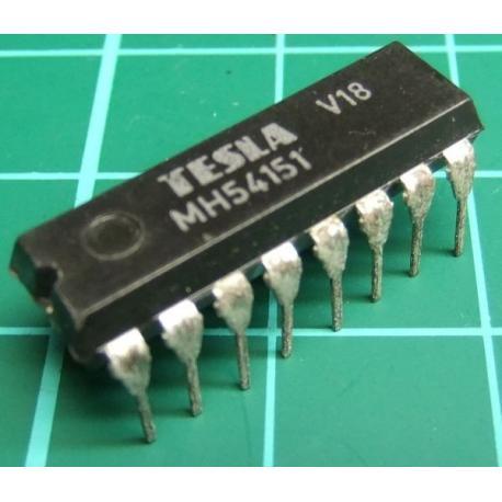 MH54151 (Mil Spec 74151), TESLA, 8-line to 1-line data selector/multiplexer