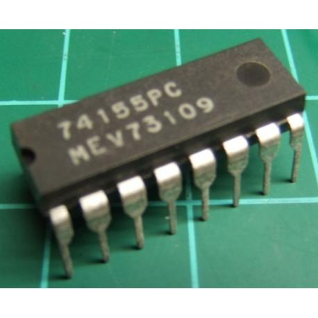 74155PC, dual 2-line to 4-line decoder/demultiplexer