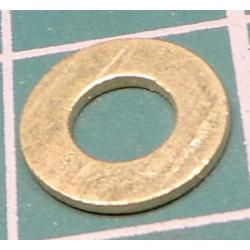 Washer, M4, 9mm Diameter, Brass