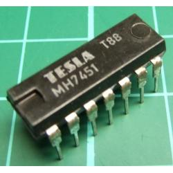 7451, MH7451, TESLA, dual 2-wide 2-input AND-OR-invert gate