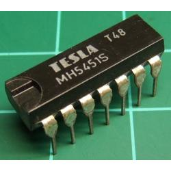 7451, MH5451S (Mil Spec 7451S), TESLA, dual 2-wide 2-input AND-OR-invert gate