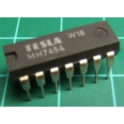 7454, MH7454, TESLA, 3-2-2-3-input AND-OR-invert gate