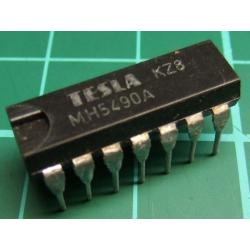 7490, MH5490A (Mil Spec 7490A), TESLA, decade counter (separate divide-by-2 and divide-by-5 sections)