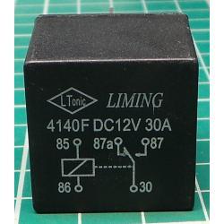 Relay auto NVF4-1 12V / 40A 28x28x25mm without stirrup