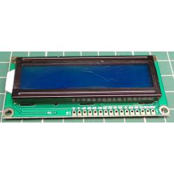 1602 LCD Module, 16x2, HD44780 Controller, Blue Backlight