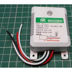 Sensor Switch, 25W/60W, 220V, Light and Sound Controlled