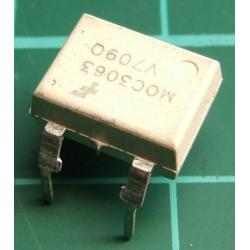 MOC3063, Optotriac, 5.3kV, Uout:600V, zero voltage crossing driver