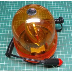 Orange warning beacon magnetic 12V