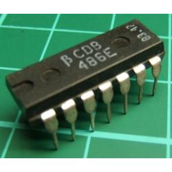 7486, TTL, 7486, CDB 486E, QUADRUPLE 2-INPUT EXCLUSIVE-OR GATES