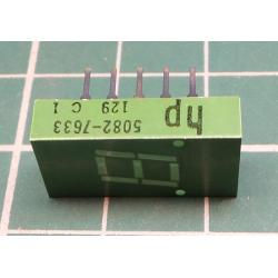 Led,7 segment Display+ 2xDot, Green, HP 5082-7633
