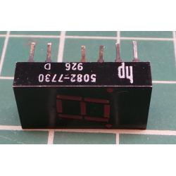 LED, 7 segment display,+2xdot red, HP 5082-7730