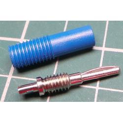 Banana Plug, 4mm, Blue