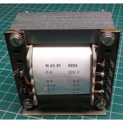 Transformer, 30W, 220V to 6V+8V+10V+12V