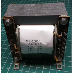 Transformer, 30W, 220V to 12V+14V+16V+18V