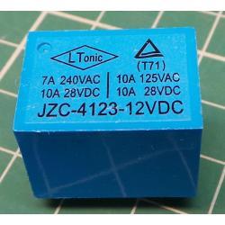 Relay HLS-T72 12V 28VDC / 10A (240VAC / 5A) 22x17x15mm