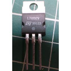 7920 stabil.plast. -20V / 1.0A TO220