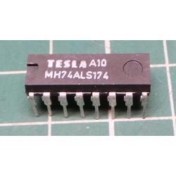 74ALS174 6x klopný obvod D s nulováním, DIL16