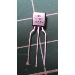 BS108, N Channel MOSFET, 200V, 0.25A, 1W, TO92
