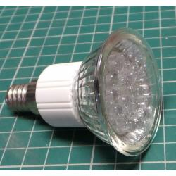 JDR E14 LED bulb, warm white, 230V / 2,7W