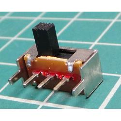 Sliding switch ON-ON 1POLE. 50V / 0.5A