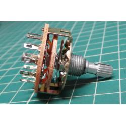 Rotary switch, 2Pole, 6 Position, 250V, 0.3A