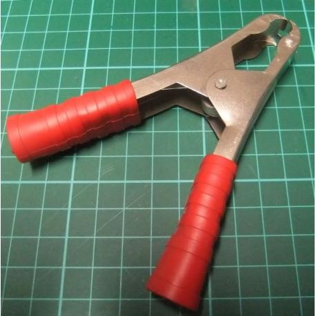 Battery Clamp, Large, Red, 10A