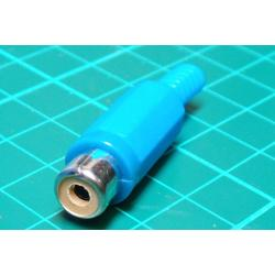 RCA socket plastic blue cable