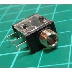 3.5mm mono jack with Switch, PCB Mount - Switchcraft 35RAPC2AV