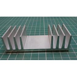 Heatsink, Alu, 90mm x 25mm x 50mm