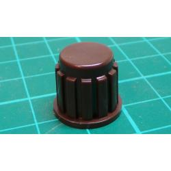Knob, for 6mm shaft, 15x15mm, Brown