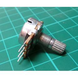 Potentiometer: Axial, single turn, 5kΩ, 63mW, ± 20%, THT, 6 mm, metal