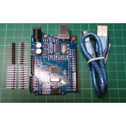 Arduino UNO clone, development board, with USB Cable