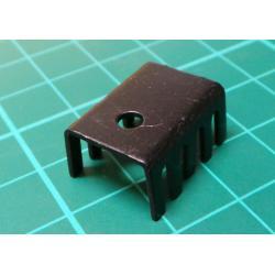 100 Pcs 19x14x10mm Aluminium Heatsink Heat Sink Black for TO-220 IC