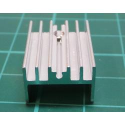 Heatsink, TO-220, 20mm x 15mm x 10mm, M3 Thread on hole