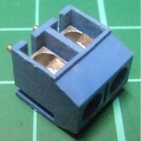 PCB Terminal Screw x2, Right Angle Exit, 11x10x8mm