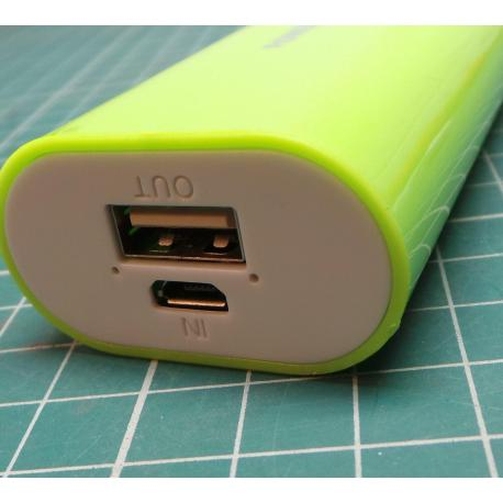 For Mobile Phones Samsung Portable 5200mAh USB Battery Green Powerbank Charger