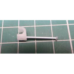 Nail in Clip, for 3mm round cable