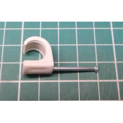 Nail in Clip, for 10mm round cable